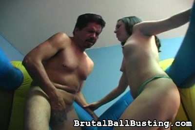 No bra, nice A plus cup tits Brutal Ball Busting XXX Porn Tube Video Image