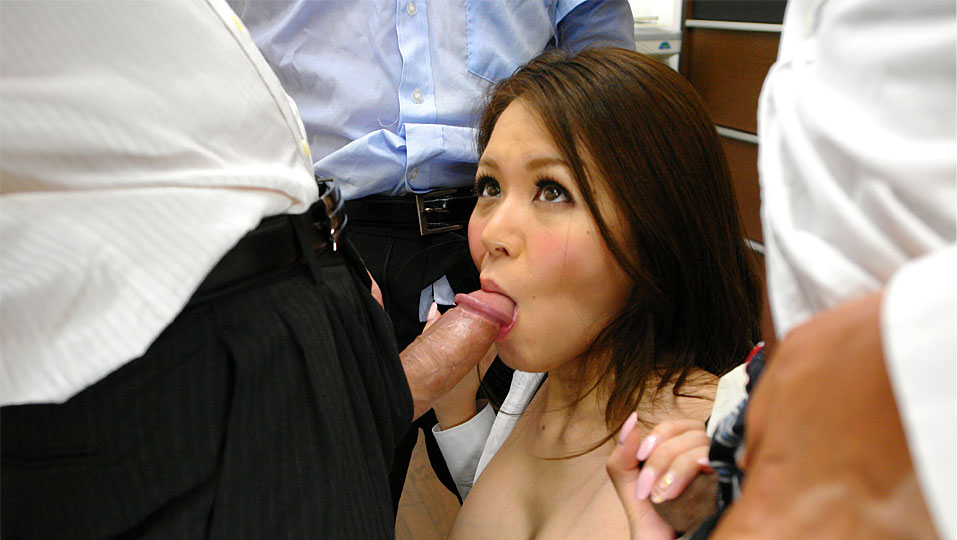 Office girl China Mimura enjoys in group sex JapanHDV XXX Porn Tube Video Image