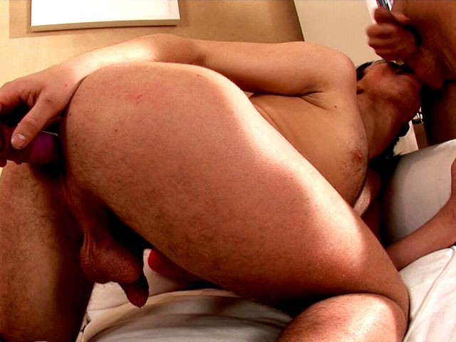 Orgiastic brunette European twink Paul toying ass and giving blowjob to handsome Tommy