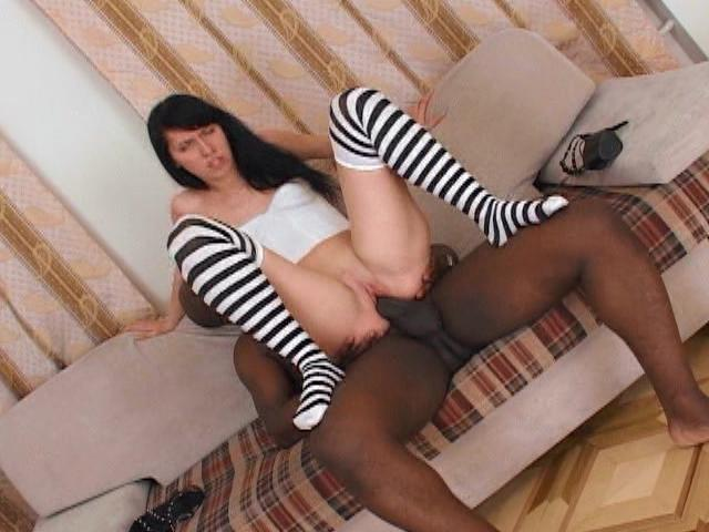 Passionate Bitch In Stockings Jenifer Gets Pink Pussy Smashed By A Monster Black Penis On The Couch Interracial Sex Zone XXX Porn Tube Video Image