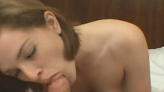 Perky titted bitch Kieko licking and sucking a thick penis with lust