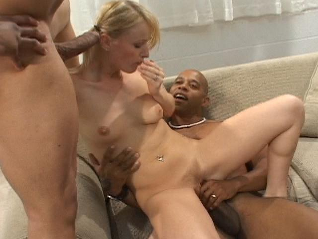Pierced goddess Sharon riding a monster dong in a threesome