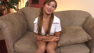 Pigtailed asian hooker Tia Tanaka teasing us with her sexy assets