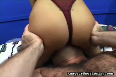 Pixie Vs. Bear Amateur Smothering XXX Porn Tube Video Image
