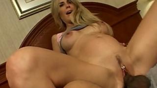 Pregnant Blonde Riding a Cock