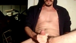 Rare Brunette Dude Masturbates His Cock Until Cums