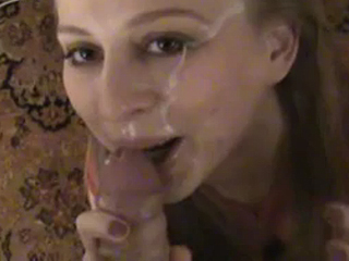 Really hot girlfriend gives oral job to new lover