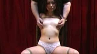 Rebecca In Boobs Bondage