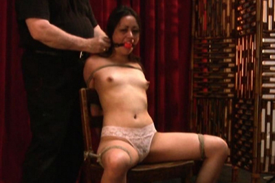 Rebecca in exciting bondage
