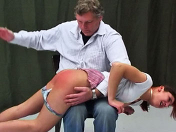 Red headed Spanking