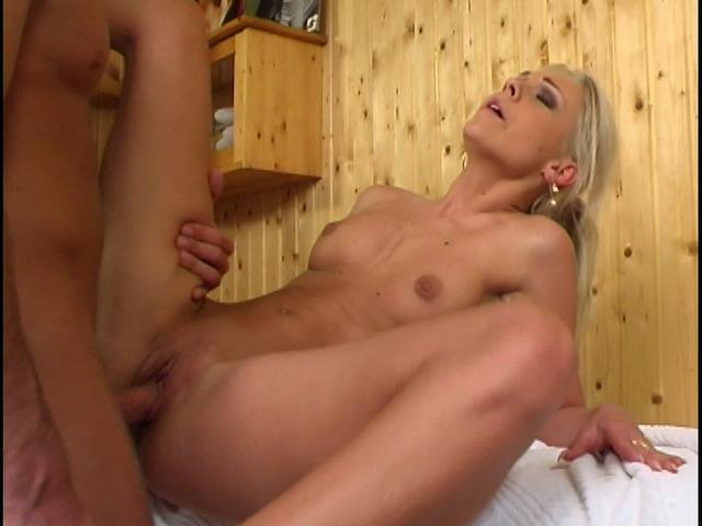 Salacious blonde vixen getting wet slit drilled by a massive schlong