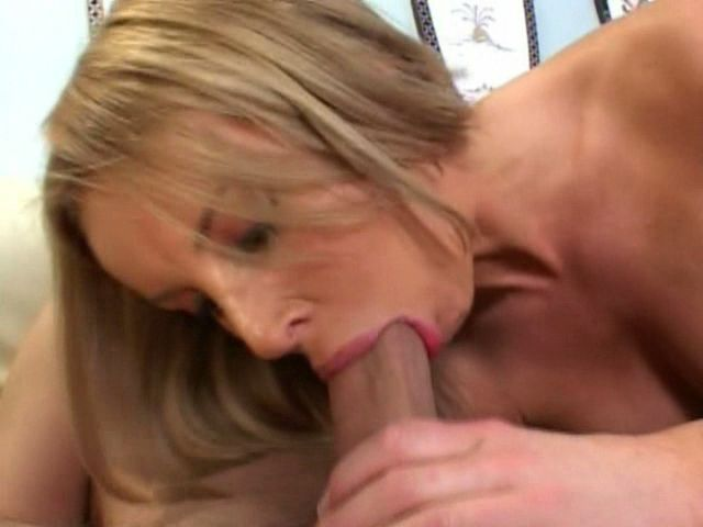 Sandy blonde milf Laura Monroe slurping a large penis with lust Free Milf Passport XXX Porn Tube Video Image