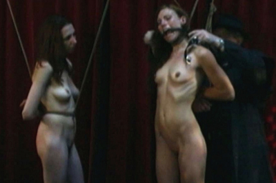 Sasha and Delilah tied up BDSM Tryouts XXX Porn Tube Video Image