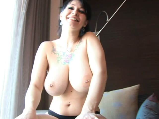 Saucy Brunette Teen Jennique Showing Her Gigantic Breasts Jennique Pain XXX Porn Tube Video Image
