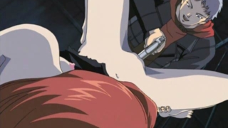 Saucy hentai nymphet gets pussy masturbated with a gun