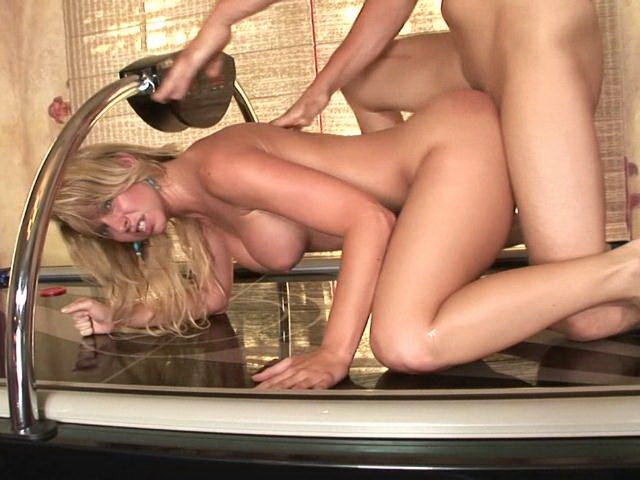 Seductive blonde milf bitch with large knockers Briana Beach gives blowjob and gets fucked Lovely Matures XXX Porn Tube Video Image