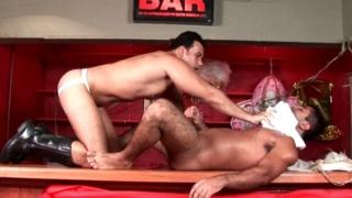 Seductive gays Alexandre Senna And Henrique Silva undressing clothes and having wild sex
