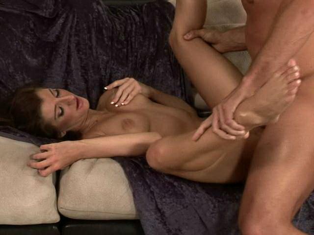 Sensational chesty brunette pornstar Italia Christie gets pussy fucked deep