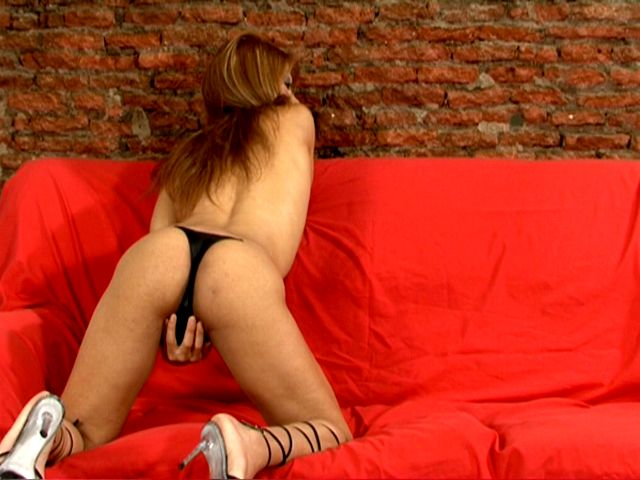 Sensual chesty tranny in high heels Morena playing with her tits and asshole on the couch Tranny Girls Exposed XXX Porn Tube Video Image