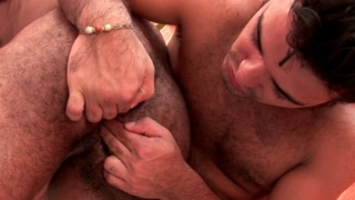 Sexual muscle gays Dennys And Douglas fingering their hairy asses hard