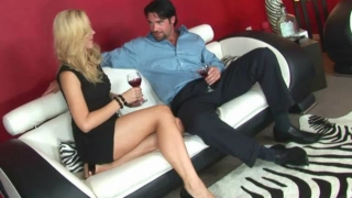 Sexy Annette Schwarz Goes Out Of Her Tight Cocktail Dress And Gets Fucked