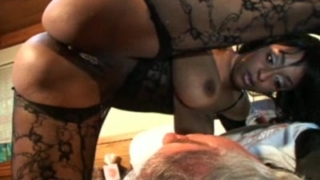 Sexy ebony facesitting scene