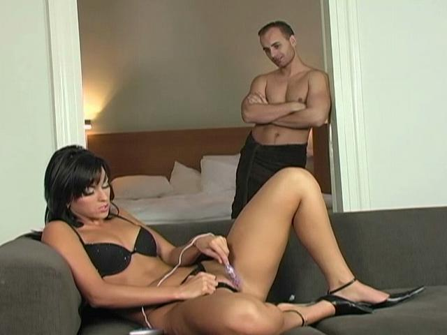 Sexy Mandy Saxo gets caught while she is masturbating