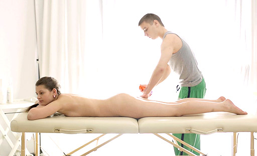 Sexy Nina Enjoys Laying On The Massage Table With The Therapists Cock Inside Her. 18 Virgin Sex XXX Porn Tube Video Image