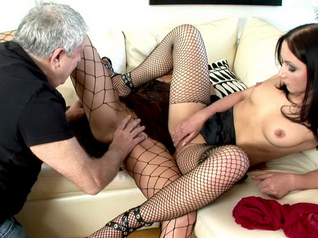 Sexy Russian harlots in fishnets Ravenna And Beatrice getting pink pussies fingered and licked by a horny dude Erotic Russians XXX Porn Tube Video Image