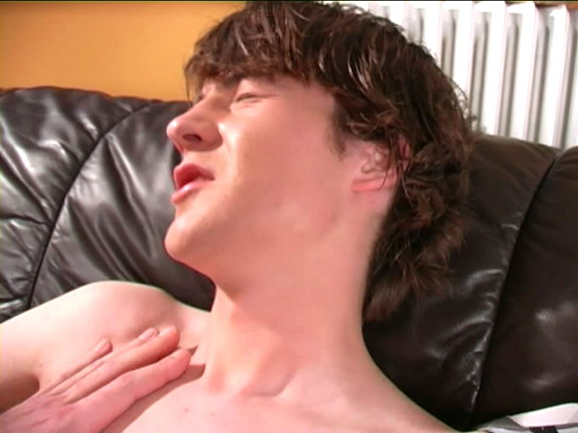 Shapely young gay Ashley riding anally Maca`s huge penis in bedroom