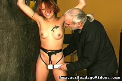 Shaved cunt punished