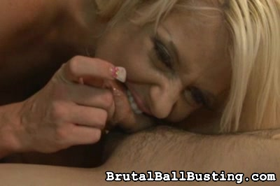 She accuses him of being a loser Brutal Ball Busting XXX Porn Tube Video Image