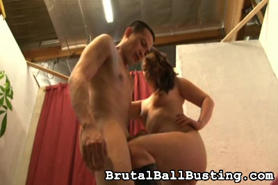 She has an Asian thing going for her. Brutal Ball Busting XXX Porn Tube Video Image