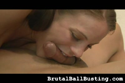 she lets him play with her tits Brutal Ball Busting XXX Porn Tube Video Image
