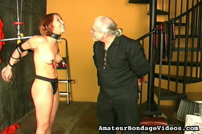 Short haired girl suspended Amateur Bondage Videos XXX Porn Tube Video Image