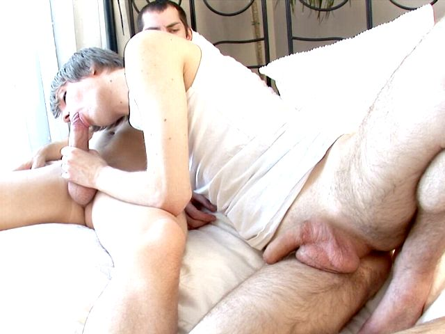 Sinfully blonde young gay Edgar gets pink shaved asshole fingered and fucked deep by horny Tommy Gay Cinema Club XXX Porn Tube Video Image