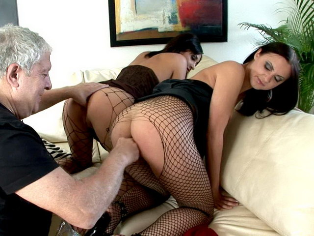 Sinfully Brunette Russian Whores Ravenna And Beatrice Gets Sexy Asses Fingered And Licked By An Old Dude Erotic Russians XXX Porn Tube Video Image