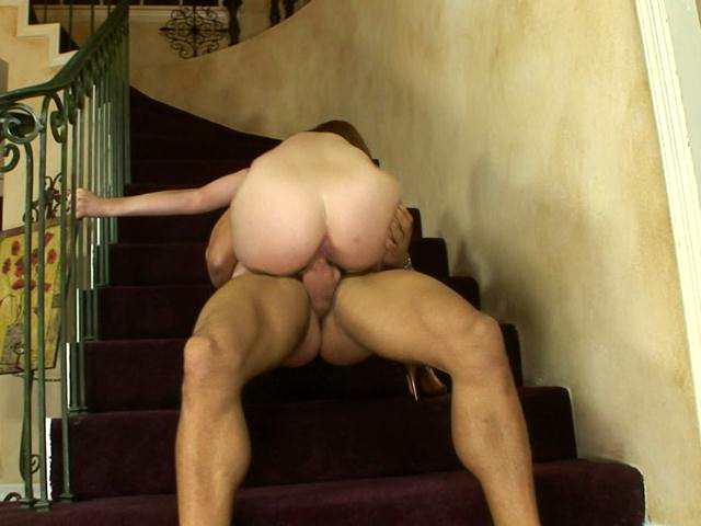 Sinfully Mature Hottie With Big Booty Ginger Riding A Massive Young Phallus On The Stairs Lovely Matures XXX Porn Tube Video Image
