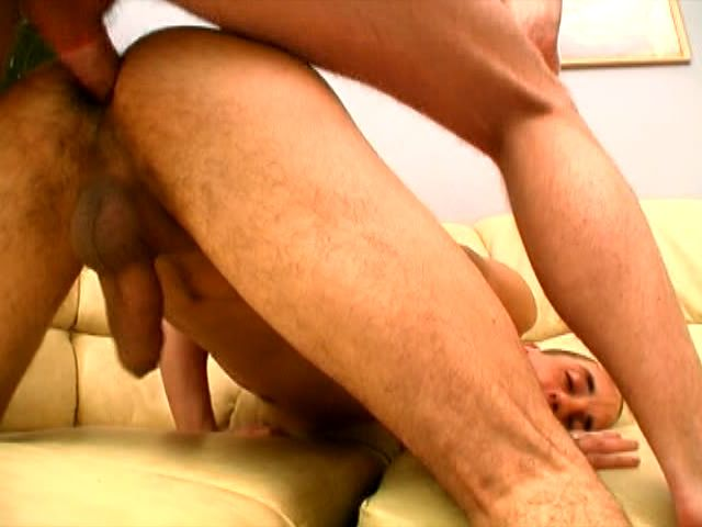 Sinfully short haired gay getting anally hammered by a monster cock and giving oral sex
