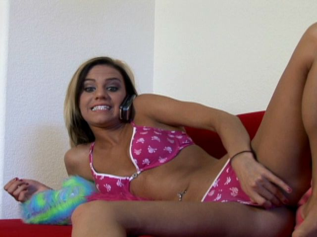 Sinfully tanned blond teen ex-girlfriend Addison teasing with her fuckable arse on the couch