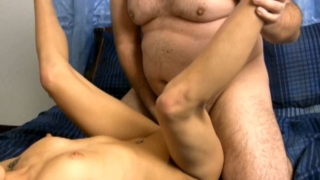 Sizzling amateur nymphet Ariel Rose getting pounded by a chubby dude
