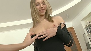Skinny Teen Gets Her Asshole Drilled