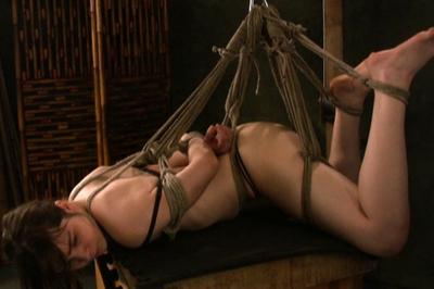 Slutty Maya Hogtie BDSM Tryouts XXX Porn Tube Video Image