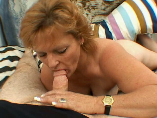 Smiling blonde granny with big tits Megan strips and slurps a thick penis Is That Grandma XXX Porn Tube Video Image