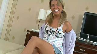 Smiling Teen Always Welcomes A Cock