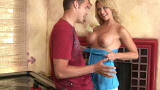 Splendid Blonde Mature Vixen Briana Beach Getting Big Round Tits Rubbed By A Young Stud