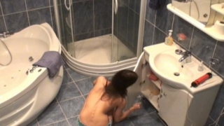 Splendid Brunette Voyeur Nymphet Lilia Gets Ready For A Bath On Hidden Cam