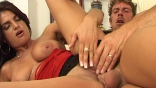 Splendid Brunette Wife With Fuckable Tits Gets Pussy Drilled From Behind