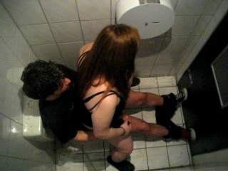 Spying Couple Fucking in Public Bathroom