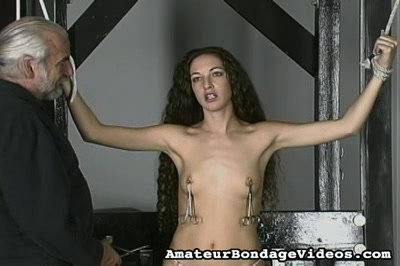 Squeezing the Nipples Amateur Bondage Videos XXX Porn Tube Video Image